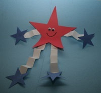 kids 4th of july craft. Could use for constitution week!