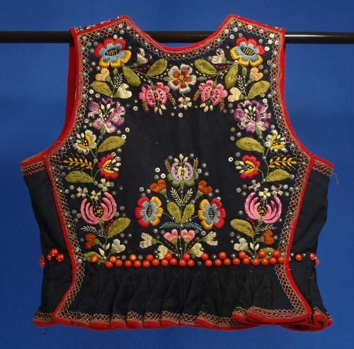 Woman's vest (back) from Krakow, Poland