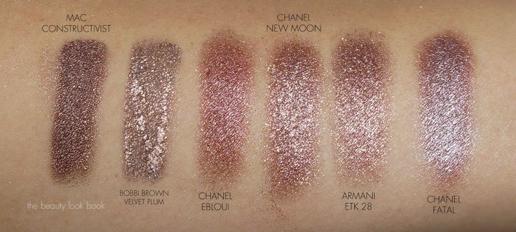 Chanel Illusion D'Ombre Mirage, New Moon and Utopia comparisons and swatches.