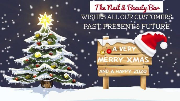 Merry Christmas To Our Customers Video Template In 2020 Christmas Facebook Cover Merry Christmas And Happy New Year Merry Xmas