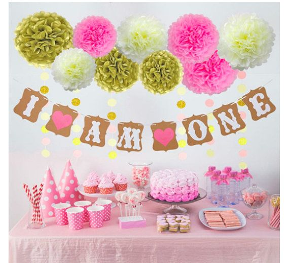 I Am One Birthday Party Decorations Baby S First Birthday