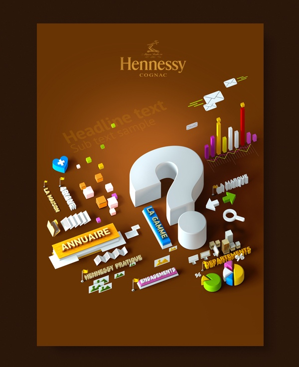 Hennessy intranet posters on Behance
