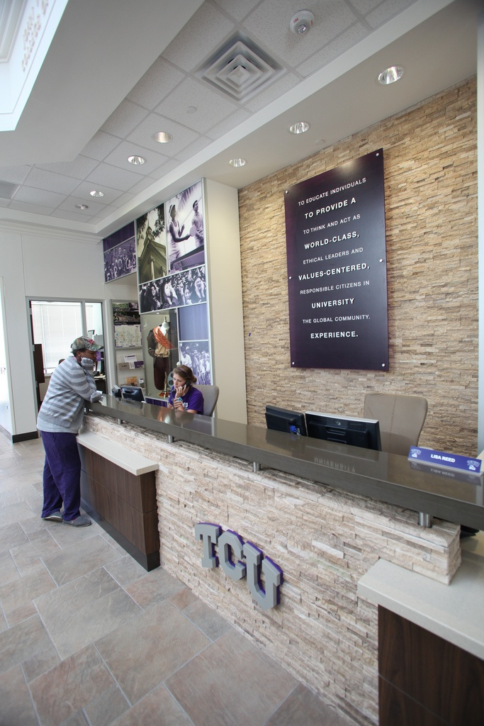 Admission Center In August 2010 Streamlines The Office Of And Provides A More Accessible Visible Entry Point To TCU Experience