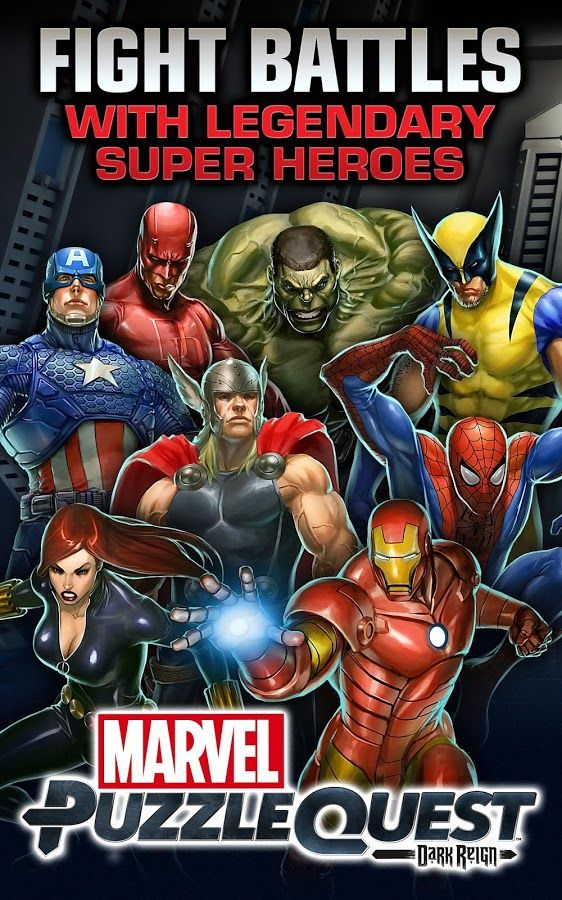 Assemble Your Team! Marvel Puzzle Quest Dark Reign now on Android