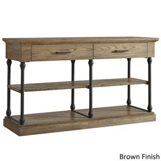 SIGNAL HILLS Barnstone Cornice Drawers Media TV Stand Console - 19675535 - Overstock.com Shopping - Great Deals on Signal Hills Entertainment Centers