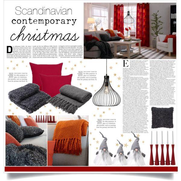 """""""Scandinavian Contemporary Christmas"""" by veronikasinterior on Polyvore"""