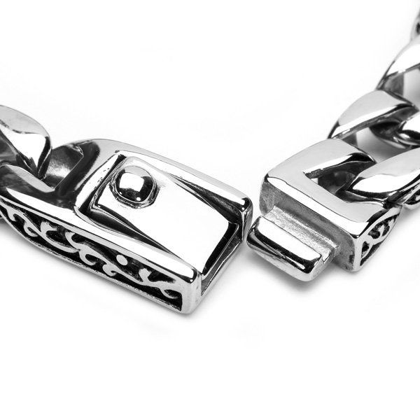Vintage Silver Tone 316L Stainless Steel Bracelet