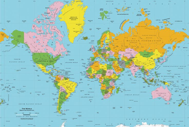 MAPS OF WORLD - In my opinion, likely the best, free, online map - best of world map poster time zones