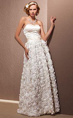 EDOLIE - Vestido de Noiva em Cetim e Renda – BRL R$ 836,58