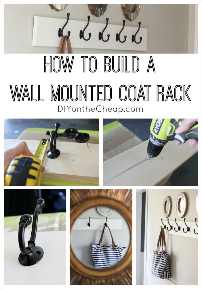 How To Build A Coat Rack On Wall Woodworking Projects