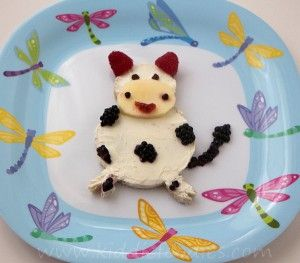 Milka, the laughing cow - funny sandwich idea for kids -Kiddie Foodies