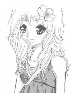 Girl, hair, sewing, animated
