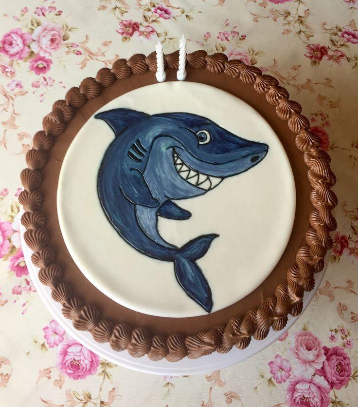 2017/06/04 shark chocolate cake