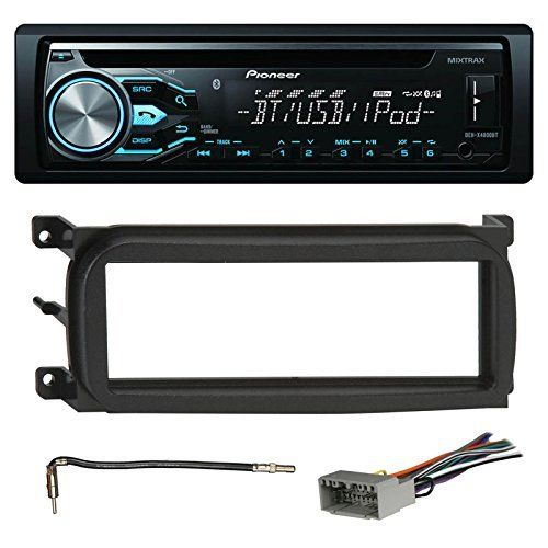 Pioneer DEH-X4800BT Bluetooth In-Dash CD Car Stereo Audio Receiver Bundle Combo W/ Metra 996503 Installation Kit For 1998-Up Chrysler/Dodge/Jeep Vehicles + Antenna Adapter Cable + Radio Wiring Harness. PACKAGE BUNDLE KIT INCLUDES: 1 Pioneer DEHX4900BT MIXTRAX USB, AUX, AM/FM Radio, CD Player = 1 Metra 996503 Install Trim Kit For Chrysler Dodge Jeep Automobiles = 1 Metra 706502 Wiring for Car Radio = 1 Metra 40CR10 Adapter For Antenna. CAR RECEIVER: Pioneer's DEH-X4900BT CD receiver adds a...