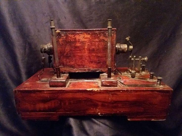 Antique Bobine de Ruhmkorff générateur électrique du XIXme siècle RARE  36X21cm