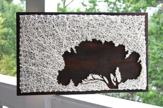 "String Art Tree   37""x24"" Tree of Memories   Tree String Art"