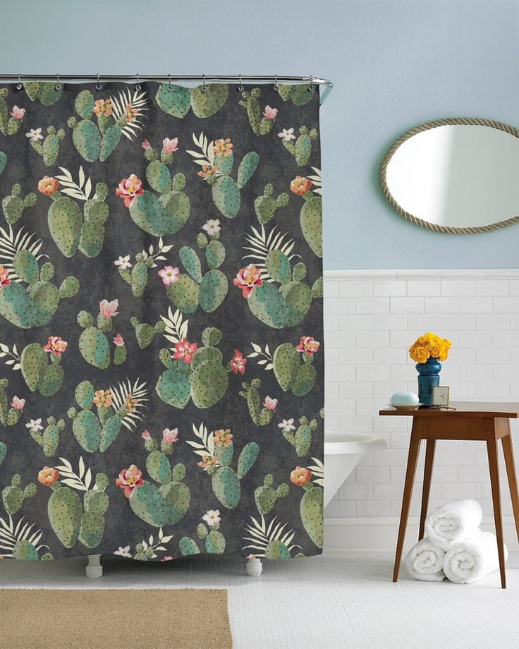 Show off your chic style with this vintage cactus pattern shower curtain illustrated by SalmoneNJ Our shower curtains are printed on a high-quality polyester curtain. This cactus shower curtain comes both standard and extra long sizes. This shower curtain is the perfect fit for a nature themed bathroom. Want to make your own custom shower curtain? Click Here: Custom Shower Curtain Disclaimer: If you order multiple items, they may ship from separate locations. All shower curtains print & ...