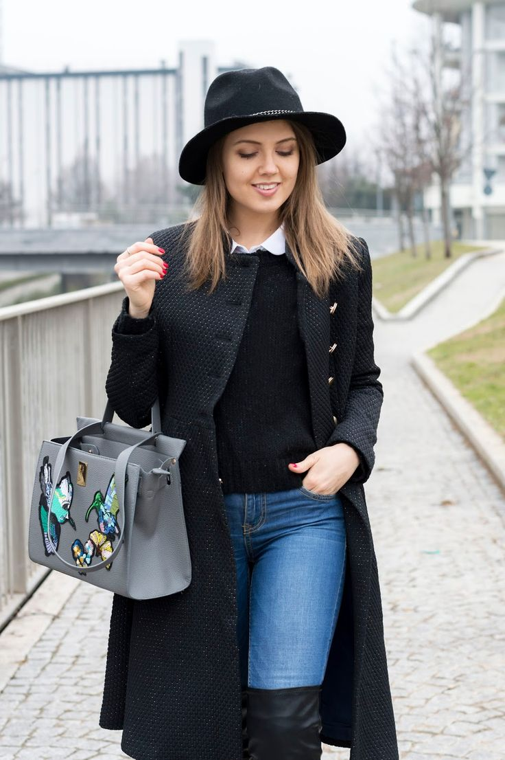CASUAL CHIC: UN LOOK COMODO, MA TRENDY #winter #outfit #jeans #overthekneeboots #casualchic #ootd www.ellysa.it