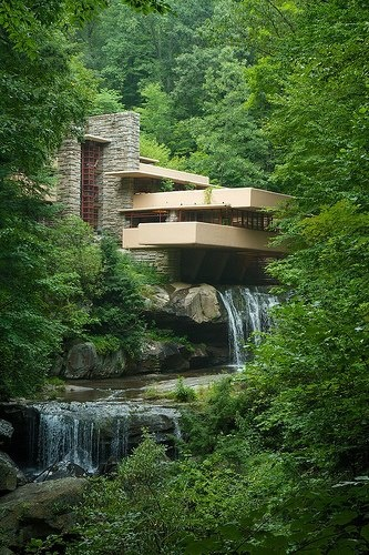falling water by frank lloyd wright the high life architecture frank lloyd wright organic. Black Bedroom Furniture Sets. Home Design Ideas