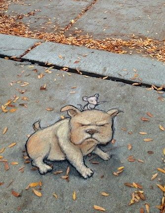 "David Zinn: Barks the Inscrutable was glad he bought the navigation system, but wished he could change the voice setting from ""impatient squeak."" (Detail)"