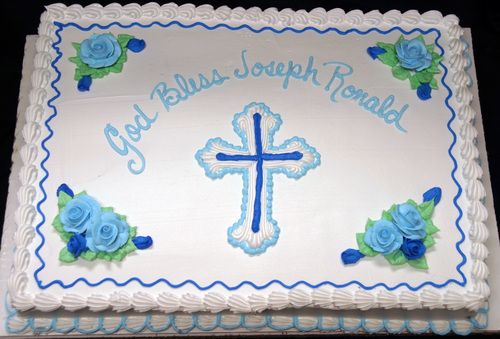 baptism sheet cake I wished I had seen this design before ordering the cake!!! lol