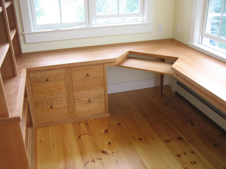 Custom Designed And Built Shaker Style Cherry Home Office Furniture