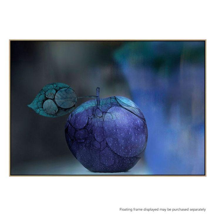 Blue Apple | Canvas or Framed Print by Artist Natalia BarasThe Block Shop - Channel 9