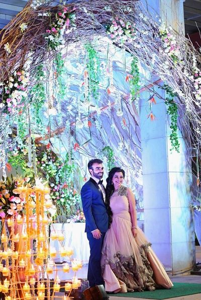 Delhi NCR weddings | Deepanshu & Ruchika wedding story | Wed Me Good A fairytale pastel engagement, complete with floral prints, love birds and beautiful decor.