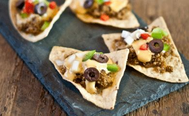 Quinoa Nachos - for Super Sunday!