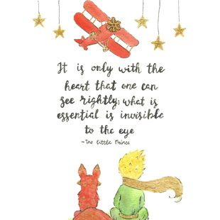 The Little Prince quote, little prince fox, little prince art https://society6.com/product/the-little-prince-quote-art_print