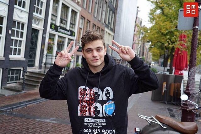 Martin walking in streets of Amsterdam #martingarrix