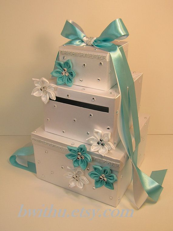 Tiffany Wedding  Card Box Gift Card Box Money Box by bwithustudio, $109.00