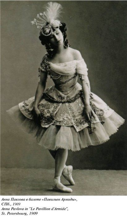 Anna Pavlova, 1909 Oh my goodness, this costume.