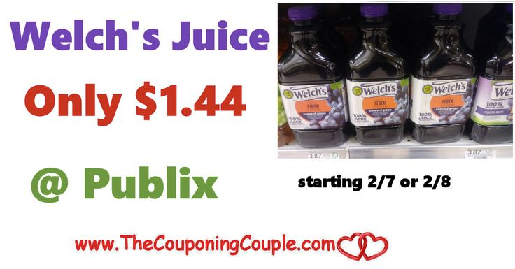 Welch's Juice Only $1.44 each @ Publix starting 2/7 or 2/8. Be sure to get your coupons ready for this great upcoming deal. This is one of my favorite deals in the next ad. **  Click the link below to get all of the details ► http://www.thecouponingcouple.com/welchs-juice-only-1-44-each-publix-starting-2-7-or-2-8/ #Coupons #Couponing #CouponCommunity  Visit us at http://www.thecouponingcouple.com for more great posts!