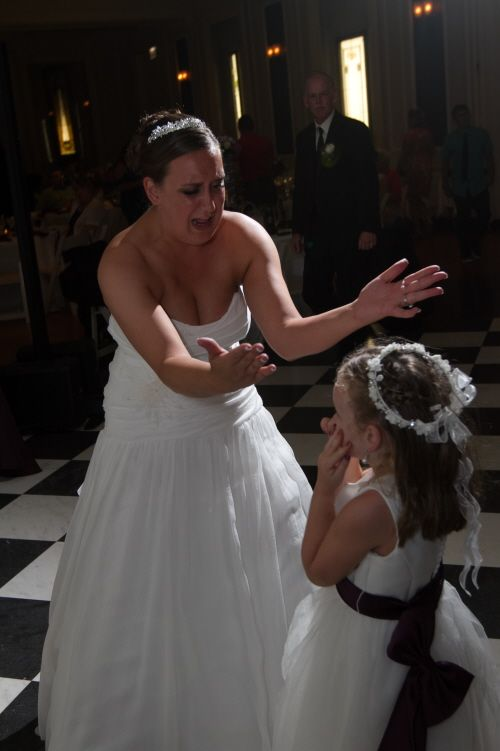 A darling shot of the bride and a future bride-in-training. Thanks to Dartise Photography.