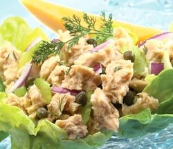 Simple Summer Salmon Salad Recipe with  Chicken of the Sea® Pink Salmon.