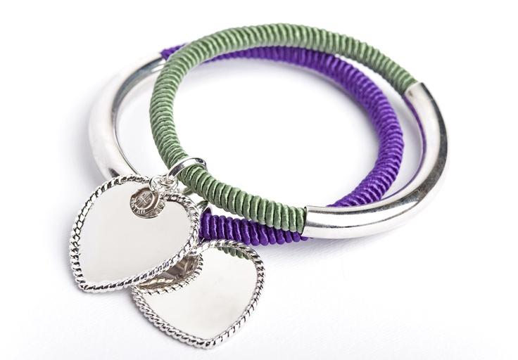 Parigino bracelet with passementerie and rhodium plated silver. www.annaealex.com