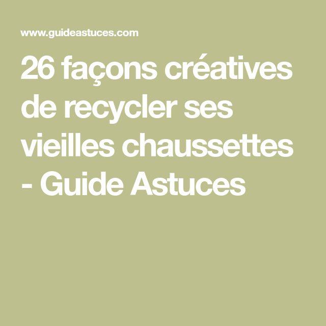 26 façons créatives de recycler ses vieilles chaussettes - Guide Astuces