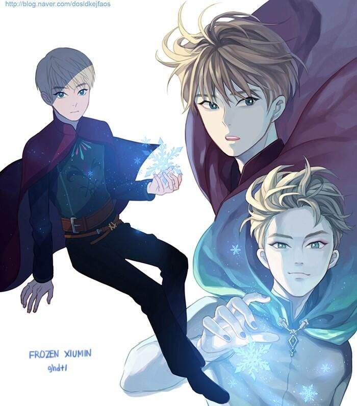 """Genderbent version of Elsa from """"Frozen"""" - Art by ghdtl (I want this to be a thing. Some creative mind make this an actual thing.)"""