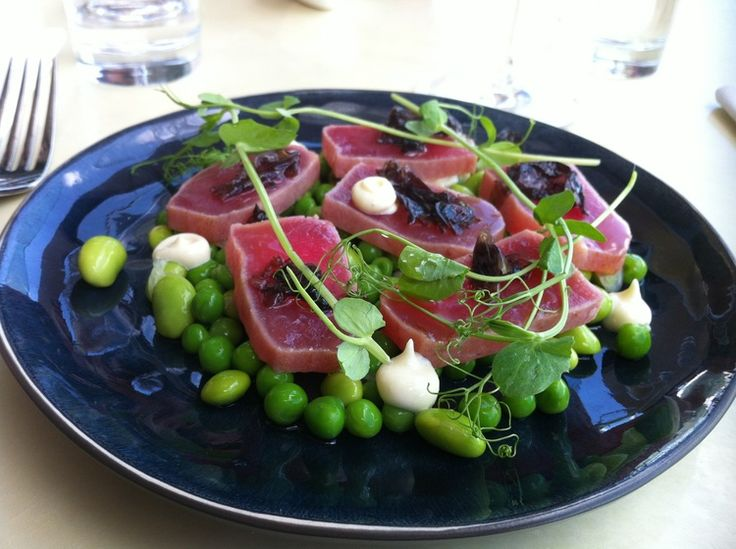 Wow... seared tuna from Ostro Bar & Brasserie