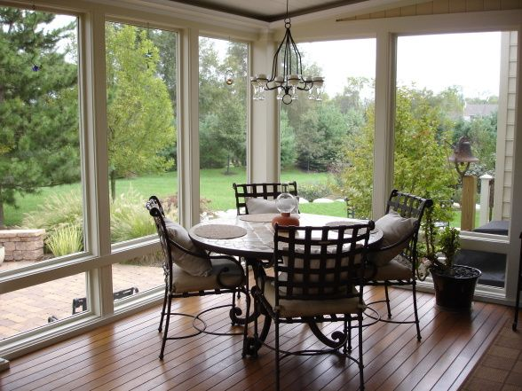 screened in porch decorating ideas | Large screened porch, A large outdoor space designed for summer ...