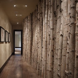 Great hallway with trees