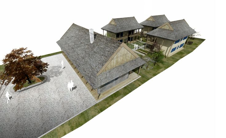 SYAA | Pensiune in Delta www.syaa.ro #B&B #Danube_Delta #tourism #reeds #traditional #architecture #green #3D #rendering