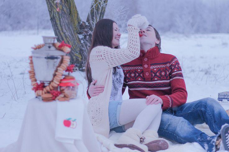 #winter #самовар #зима #фотосессия #зимнее_оформление