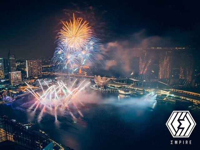 『Sky Grandè Prix』45階から見るこの景色はいつも以上に豪華に見えて、すべてが輝いていた。