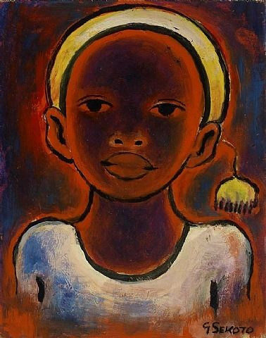 Gerard Sekoto, Head of a Girl with pompon