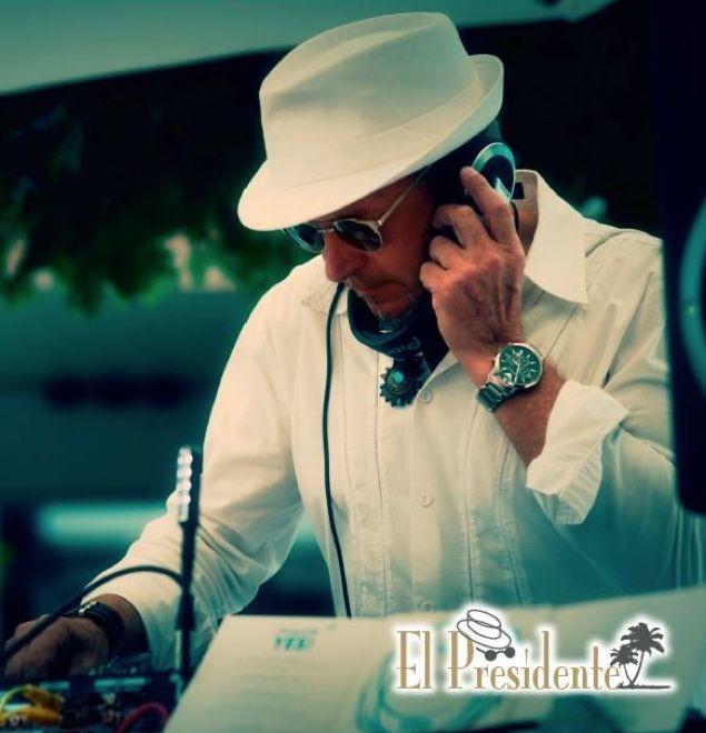 El Presidente - Produzent, DJ, Musiksammler und Ibiza-Szene-Kenner seit über 30 Jahren!  Er ist DER DJ für unsere Fashionshows