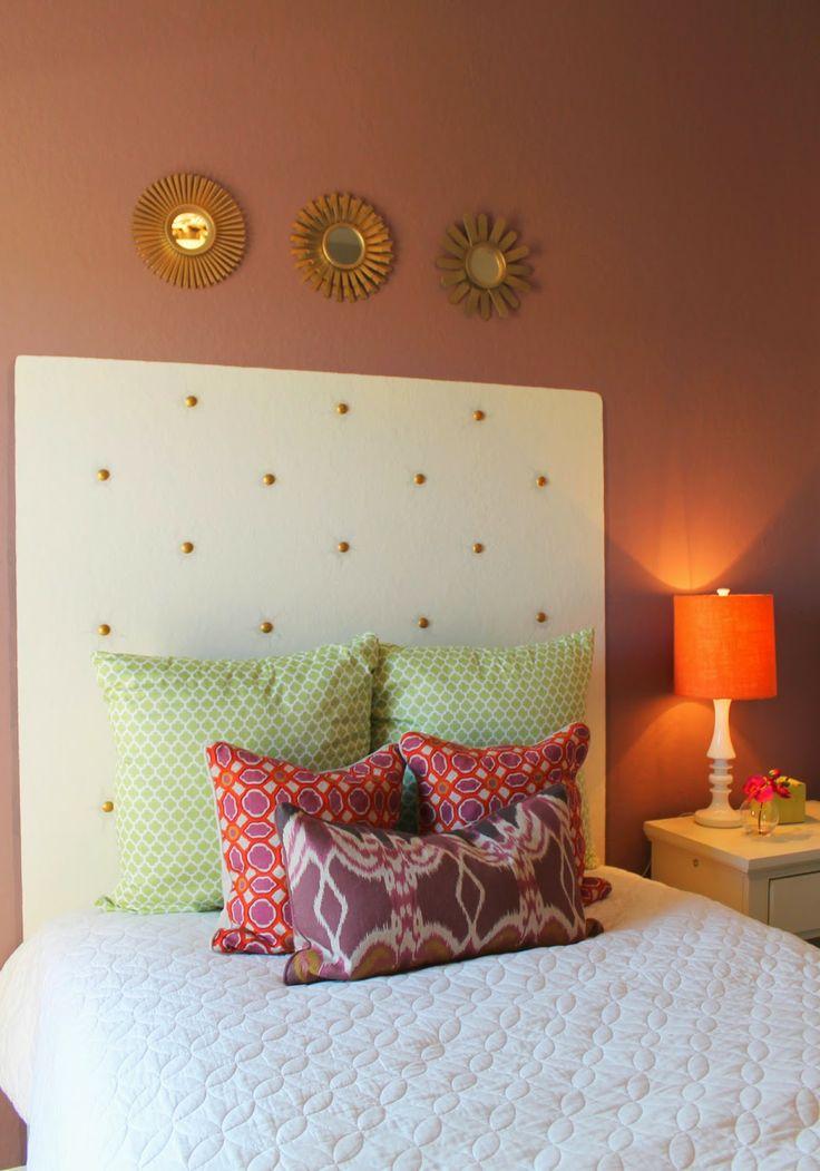 Painted Headboard On Wall best 25+ faux headboard ideas on pinterest | cheap bedroom decor