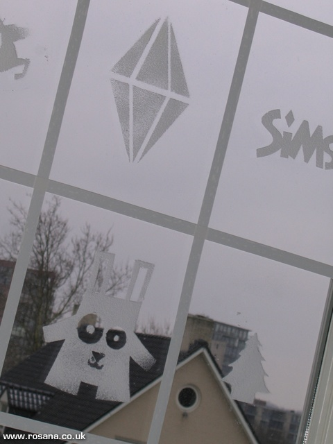 Sims related snow stencils for the holidays. #sims #plumbob #plumbbob #freezerbunny #snow #spray #stencils #winter #holidays #xmas #christmas #snw