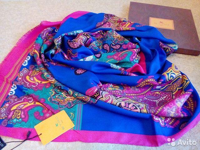 Палантин-платок Etro, 100 silk, 60x170— фотография №1